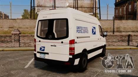 Mercedes-Benz Sprinter 2500 Delivery Van 2011 para GTA 4 traseira esquerda vista