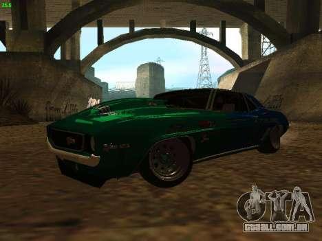 Chevrolet Camaro z28 Falken edition para GTA San Andreas esquerda vista