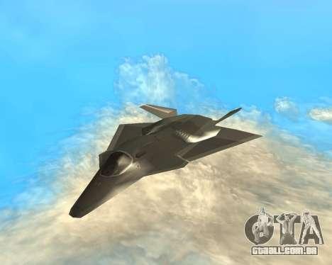 FA-37 Talon para GTA San Andreas vista traseira