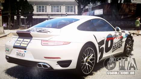 Porsche 911 Turbo 2014 para GTA 4 traseira esquerda vista