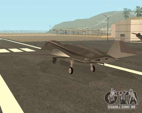 FA-37 Talon para GTA San Andreas traseira esquerda vista