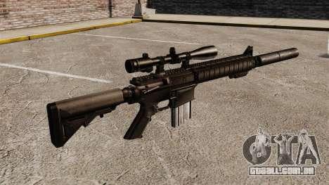 O rifle sniper SR-25 para GTA 4 segundo screenshot