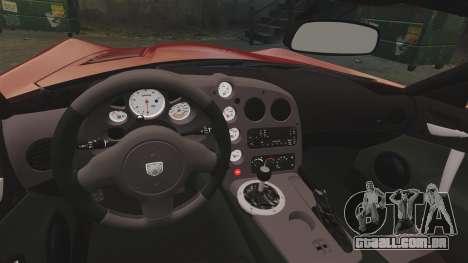 Dodge Viper SRT-10 2003 para GTA 4 vista interior