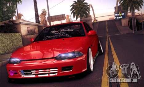 Proton Wira Hype para GTA San Andreas traseira esquerda vista