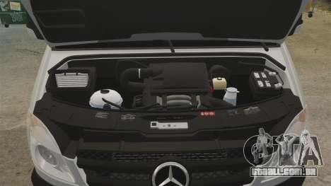 Mercedes-Benz Sprinter 2500 Delivery Van 2011 para GTA 4 vista interior