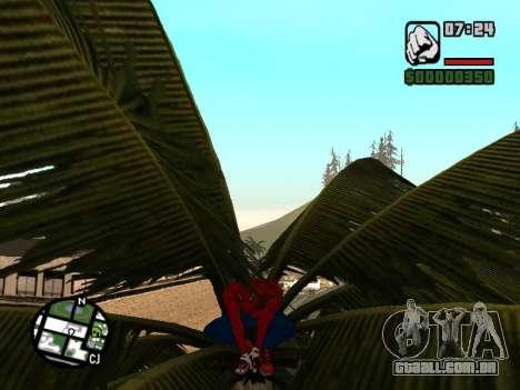 Agachar-se como o homem-aranha para GTA San Andreas por diante tela