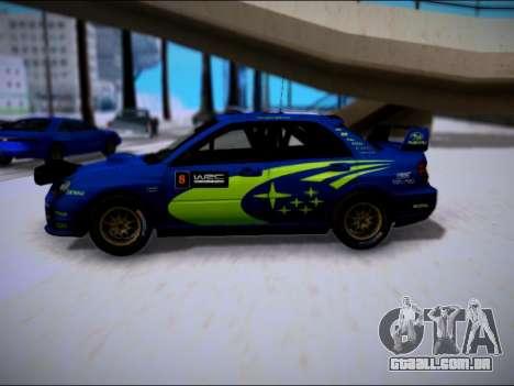 Subaru Impreza WRX STI WRC para GTA San Andreas esquerda vista