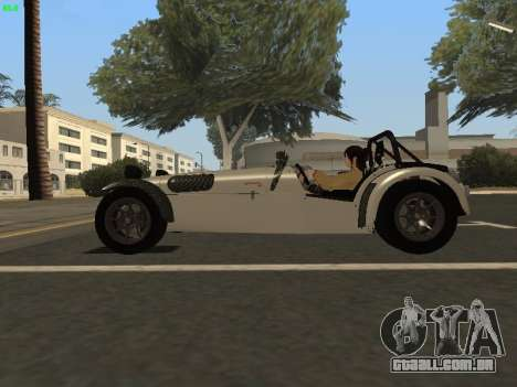 Caterham 7 Superlight R500 para GTA San Andreas esquerda vista