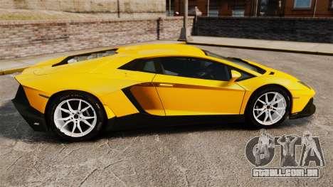 Lamborghini Aventador LP720-4 50th Anniversario para GTA 4 esquerda vista