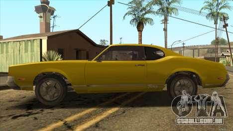 Sabre HD from GTA 3 para GTA San Andreas esquerda vista