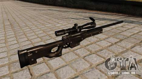 Rifle de sniper AI Arctic Warfare Magnum para GTA 4 segundo screenshot