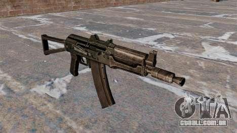 AKS74U automático preto para GTA 4