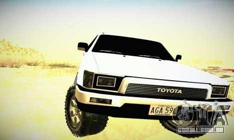 Toyota 4Runner 1995 para GTA San Andreas vista interior