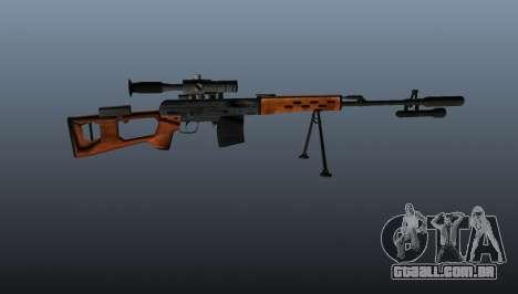 Dragunov sniper rifle A & K para GTA 4 terceira tela