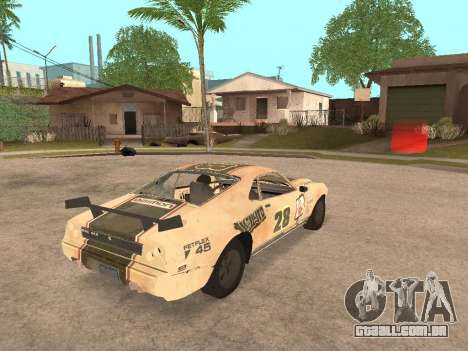 AMC Javelin AMX para GTA San Andreas traseira esquerda vista