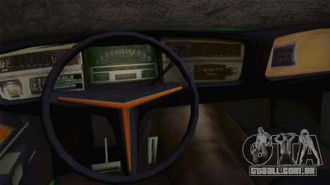 Buick Riviera 1972 Carbine Version para GTA San Andreas vista interior