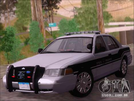 Ford Crown Victoria San Andreas State Trooper para GTA San Andreas esquerda vista