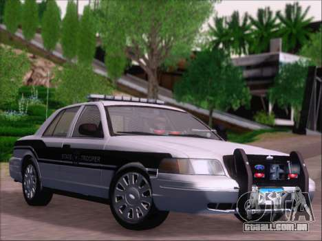 Ford Crown Victoria San Andreas State Trooper para vista lateral GTA San Andreas