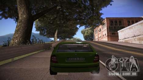 Skoda Fabia para GTA San Andreas traseira esquerda vista