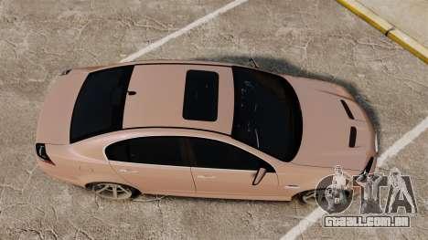Pontiac G8 GXP [VE] 2009 para GTA 4 vista direita