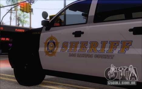 Um jipe da polícia de GTA V para GTA San Andreas traseira esquerda vista