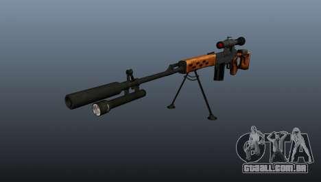 Dragunov sniper rifle A & K para GTA 4