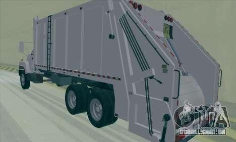 GMC C550 Topkick Trashmaster para GTA San Andreas vista direita