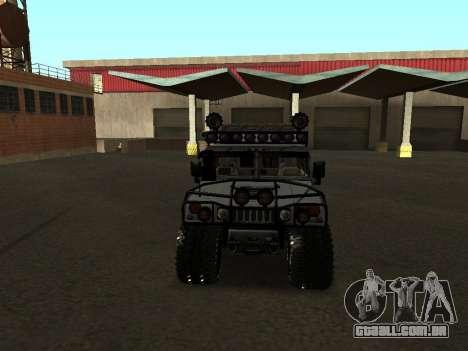 Hummer H1 Offroad para GTA San Andreas vista interior