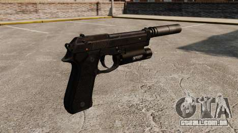 Pistola semi-automática Beretta 92 com silenciad para GTA 4 segundo screenshot