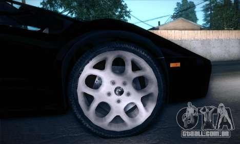 Lamborghini Diablo VT6.0 para GTA San Andreas vista interior