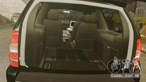Chevrolet Tahoe Police [ELS] para GTA 4 vista interior