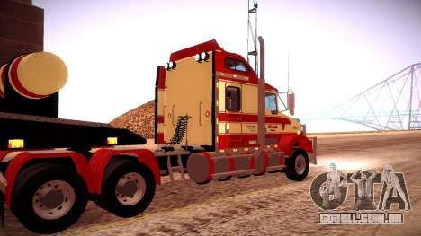 Kenworth RoadTrain T800 para GTA San Andreas vista interior