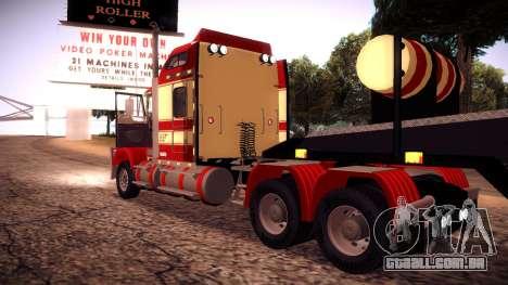 Kenworth RoadTrain T800 para GTA San Andreas vista traseira