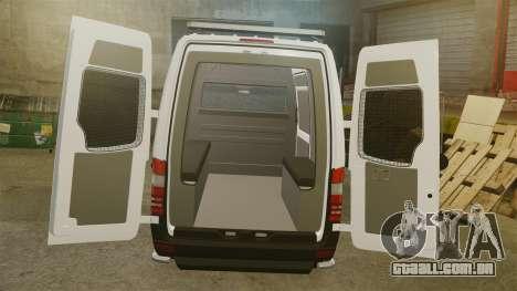 Mercedes-Benz Sprinter 3500 Emergency Response para GTA 4 vista lateral