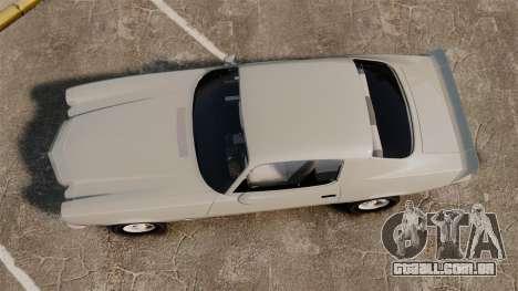 Chevrolet Camaro Z28 1970 v1.1 para GTA 4 vista direita