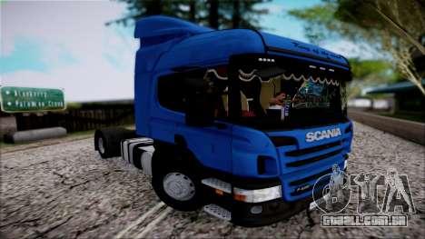 Scania P400 para GTA San Andreas vista traseira