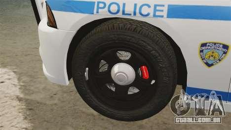 Dodge Charger 2012 NYPD [ELS] para GTA 4 vista interior