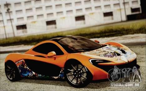 McLaren P1 2014 v2 para GTA San Andreas vista traseira