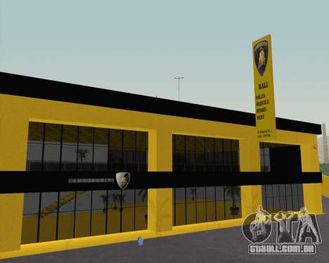 Lamborghini Dealer San Fierro para GTA San Andreas segunda tela