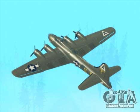 B-17G para GTA San Andreas vista superior