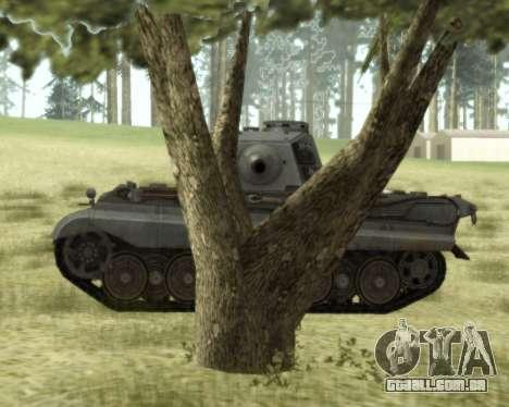 PzKpfw VIB Tiger II para GTA San Andreas traseira esquerda vista