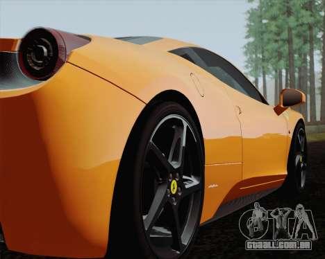 Ferrari 458 Italia 2010 para GTA San Andreas interior