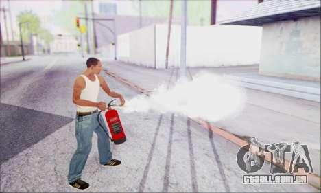 Novo extintor de incêndio 2 para GTA San Andreas terceira tela