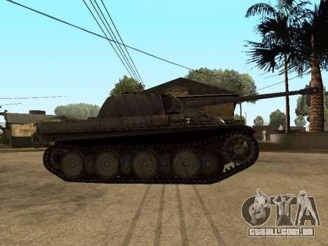 Pzkfpw V Panther para GTA San Andreas traseira esquerda vista