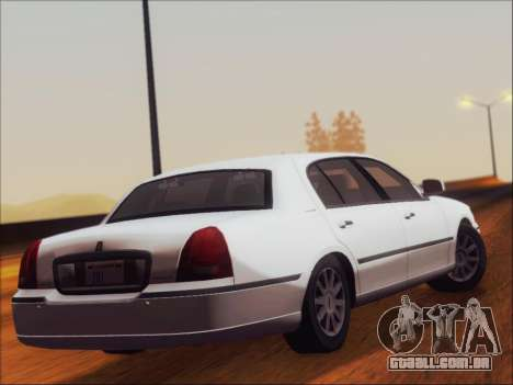 Lincoln Town Car 2010 para GTA San Andreas vista direita