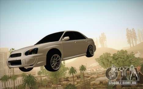Congelar o carro no ar para GTA San Andreas segunda tela