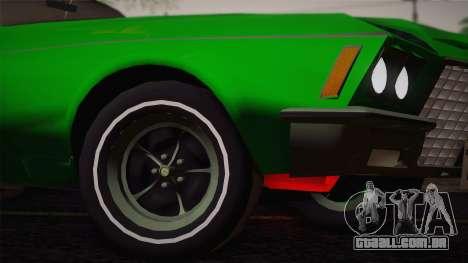Buick Riviera 1972 Carbine Version para GTA San Andreas vista traseira