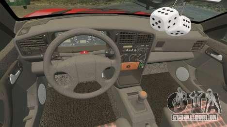 Volkswagen Passat B3 1995 para GTA 4 vista superior