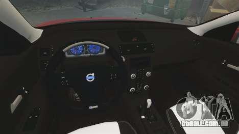 Volvo C30 T5 2009 para GTA 4 vista interior