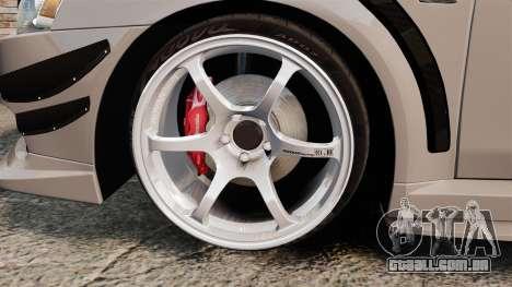 Mitsubishi Lancer Evolution X GSR 2008 para GTA 4 vista de volta
